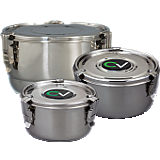 Stainless Storage and Curing Containers